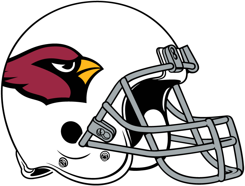 Arizona Cardinals Helmet Helmet (2005-Pres) - White helmet with cardinal head on the side, gray facemask SportsLogos.Net