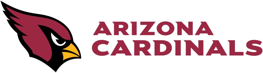 Arizona Cardinals Logo Wordmark Logo (2005-Pres) - Arizona Cardinals wordmark in red to the right of primary logo on white SportsLogos.Net