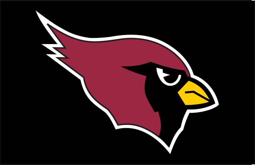 Arizona Cardinals Logo Primary Dark Logo (1994-2004) - Arizona Cardinals primary logo on black SportsLogos.Net