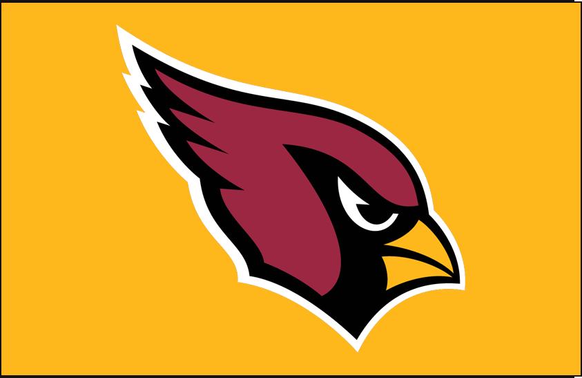 Arizona Cardinals Logo Primary Dark Logo (2005-Pres) - Arizona Cardinals primary logo on gold SportsLogos.Net