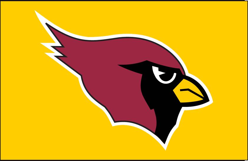 Arizona Cardinals Logo Primary Dark Logo (1994-2004) - Arizona Cardinals primary logo on gold SportsLogos.Net