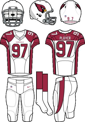 Arizona Cardinals Road Uniform - National Football League (NFL ... 50b9405a51eb