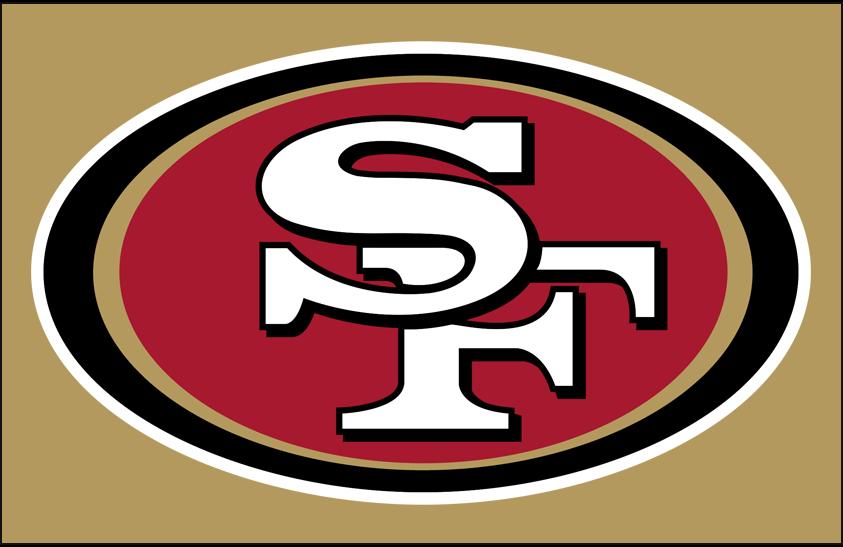 San Francisco 49ers Logo Primary Dark Logo (2009-Pres) - San Francisco 49ers primary logo on gold SportsLogos.Net