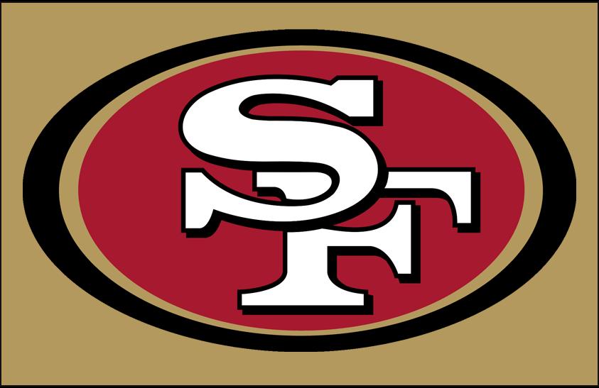 San Francisco 49ers Logo Helmet Logo (2009-Pres) - San Francisco 49ers primary logo on gold, worn on side of 49ers helmets SportsLogos.Net