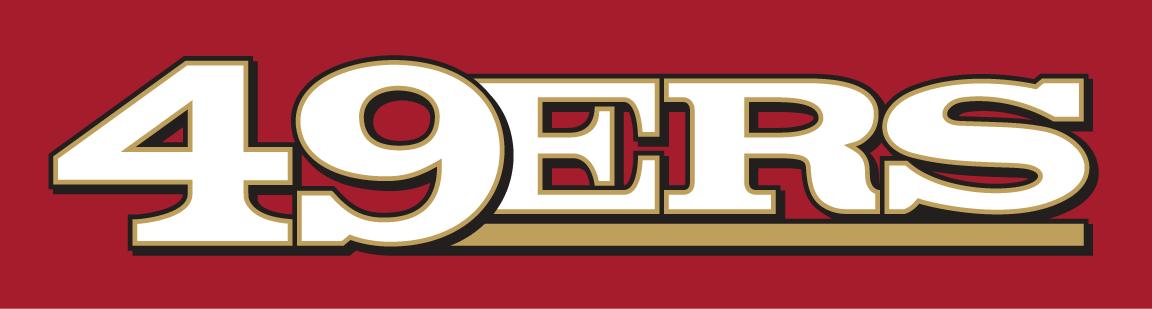 San Francisco 49ers Logo Wordmark Logo (2005-2008) -  SportsLogos.Net