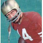 San Francisco 49ers (1958) YA Tittle posing for a trading card in San Francisco 49ers home uniform in 1958
