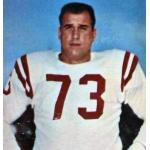 San Francisco 49ers (1960) Leo Nomellini posing for a trading card in San Francisco 49ers road uniform in 1960