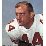 San Francisco 49ers (1964) John David Crow posing for a trading card in San Francisco 49ers road uniform in 1964