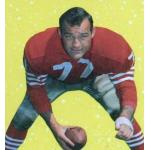 San Francisco 49ers (1968) Bruce Bosley posing for a trading card in San Francisco 49ers home uniform in 1968