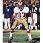 San Francisco 49ers (1972) Jim Johnson wearing San Francisco 49ers road uniform in 1972