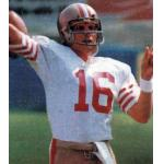 San Francisco 49ers (1980) Joe Montana in San Francisco 49ers road uniform in 1980