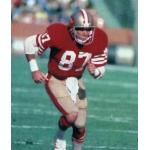 San Francisco 49ers (1982) Dwight Clark in San Francisco 49ers home uniform in 1982