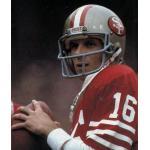 San Francisco 49ers (1984) Joe Montana in San Francisco 49ers home uniform in 1984