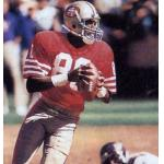 San Francisco 49ers (1986) Jerry Rice in San Francisco 49ers home uniform in 1986