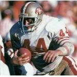 San Francisco 49ers (1988) Tom Rathman in the San Francisco 49ers road uniform in 1988