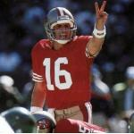 San Francisco 49ers (1989) Joe Montana in the San Francisco 49ers home uniform in 1989