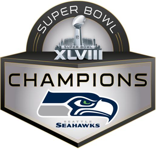 Seattle Seahawks Logo Champion Logo (2013) - Seattle Seahawks Super Bowl XLVIII Champions logo SportsLogos.Net