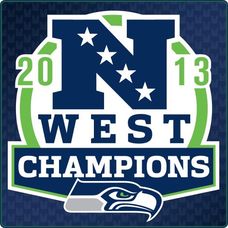Seattle Seahawks Logo Champion Logo (2013) - Seattle Seahawks 2013 NFC West Division Champions Logo SportsLogos.Net