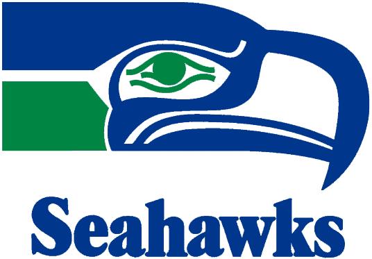 Seattle Seahawks Logo Wordmark Logo (1976-2001) - Seahawk head with script SportsLogos.Net
