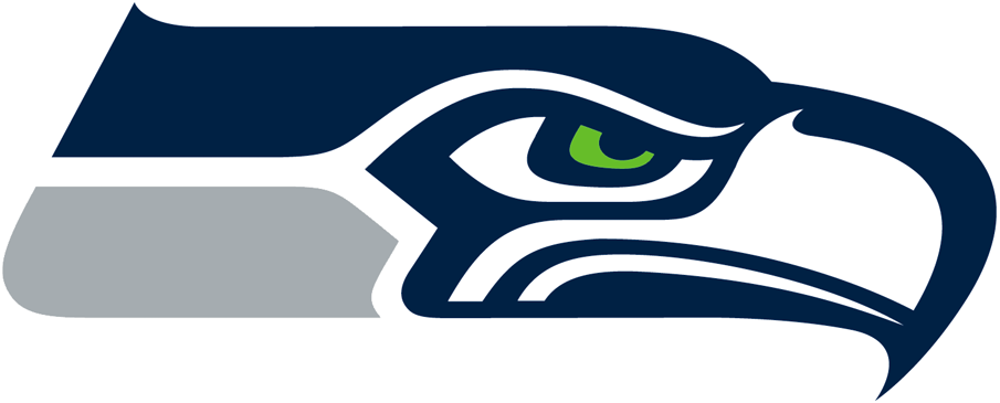 Seattle Seahawks Logo Primary Logo (2012-Pres) - Hawk head with green eye in navy blue and silver SportsLogos.Net