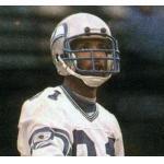 Seattle Seahawks (1984) Daryl Turner wearing the Seattle Seahawks road white uniform during the 1984 season