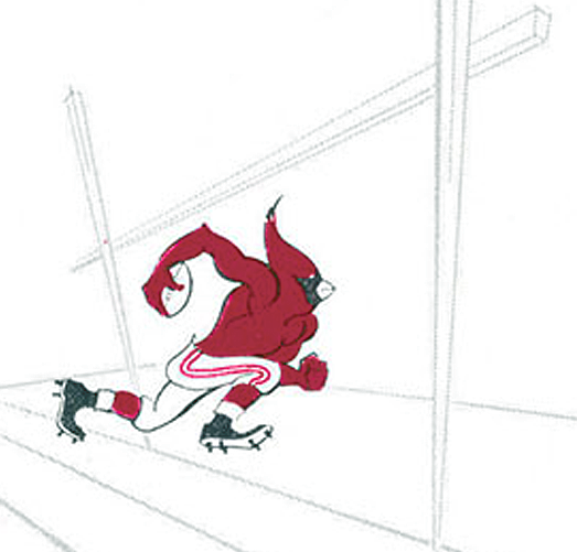 St. Louis Cardinals Logo Primary Logo (1960-1961) - St Louis Football Cardinals logo - A cardinal running a football into the end zone under the goal posts SportsLogos.Net