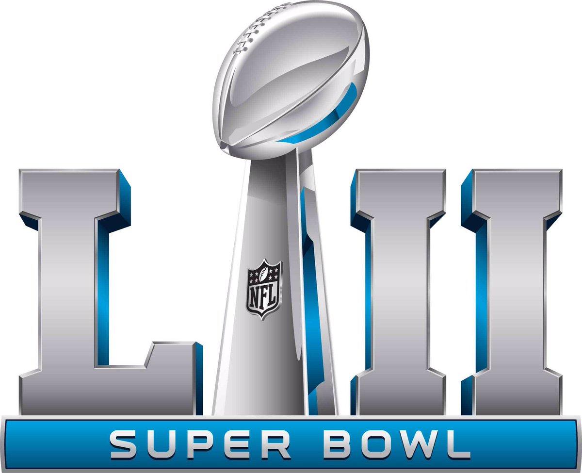 Super Bowl Logo Primary Logo (Super Bowl LII) - Super Bowl LII (52) logo, game played in Minneapolis, Minnesota between New England Patriots and Philadelphia Eagles on February 4, 2018 SportsLogos.Net