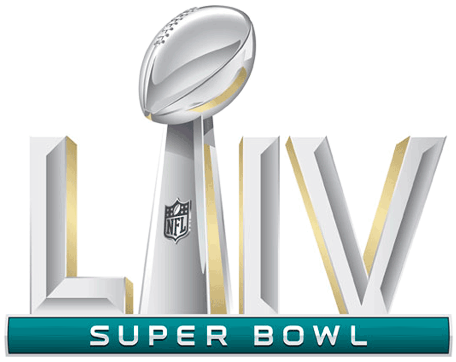 Super Bowl Logo Primary Logo (Super Bowl LIV) - Super Bowl LIV Logo Super Bowl 54 Logo, game played in Miami in February 2020 SportsLogos.Net