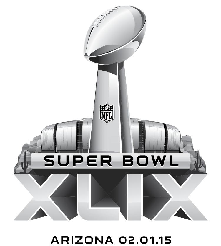 Super Bowl Logo Primary Logo (Super Bowl XLIX) - Super Bowl XLIX Regional Logo - game played in Glendale, AZ - Super Bowl 49 SportsLogos.Net