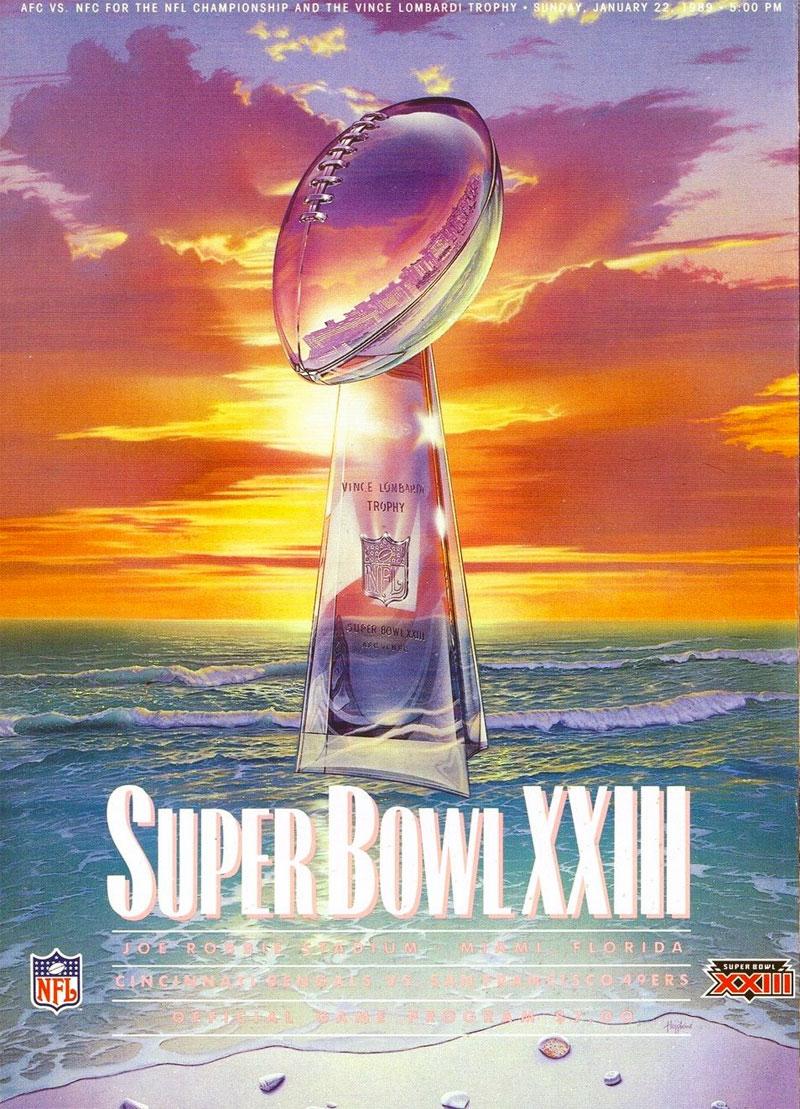 Super Bowl Program Program (Super Bowl XXIII) - Super Bowl XXIII Program Cover SportsLogos.Net