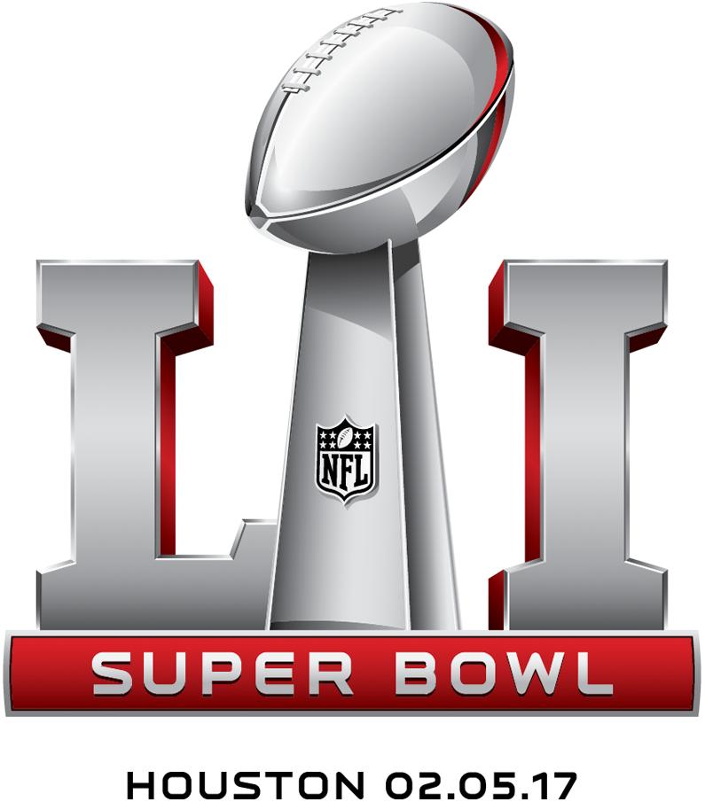 Super Bowl Logo Alternate Logo (Super Bowl LI) - Super Bowl LI Logo Super Bowl 51 Logo with date and location - Game played February 5, 2017 in Houston, TX SportsLogos.Net