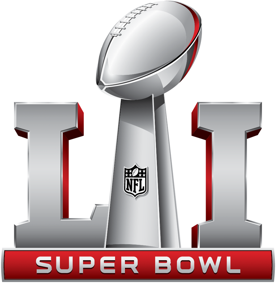 Super Bowl Logo Primary Logo (Super Bowl LI) - Super Bowl LI 51 logo, game played in Houston SportsLogos.Net