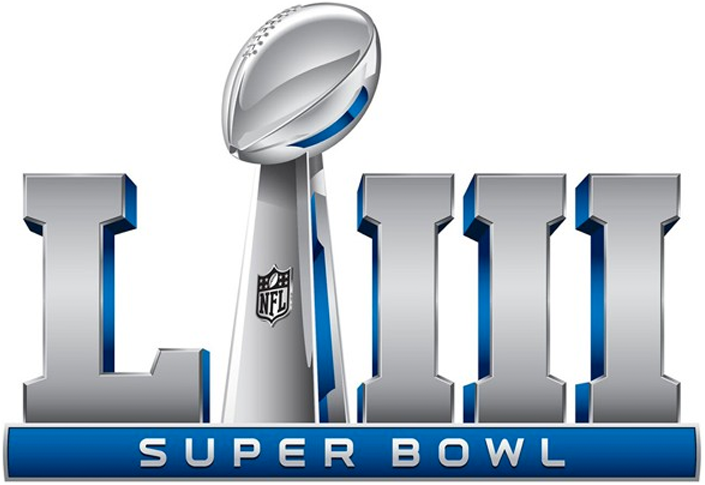 Super Bowl Logo Primary Logo (Super Bowl LIII) - Super Bowl LIII Super Bowl 53 logo, game played in Atlanta, GA in 2019 SportsLogos.Net