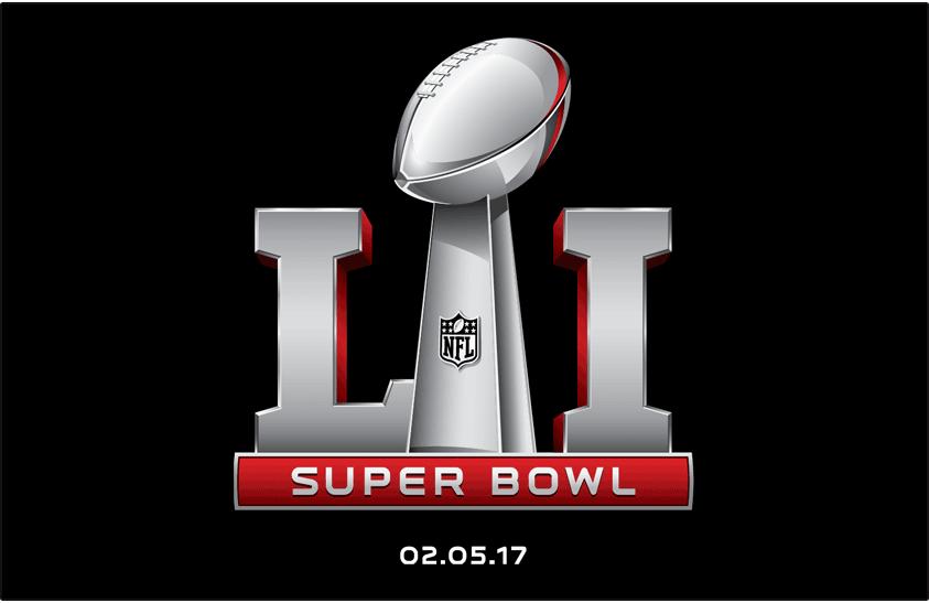 Super Bowl Logo Primary Dark Logo (Super Bowl LI) - Super Bowl LI Logo on black SportsLogos.Net