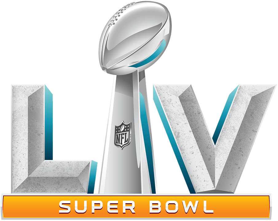 Super Bowl Logo Primary Logo (Super Bowl LV) - The logo for Super Bowl LV continued the theme used by the NFL for its Championship game used now over the past 11 games. An