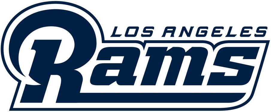 Los Angeles Rams Logo Wordmark Logo (2017-2019) -  SportsLogos.Net
