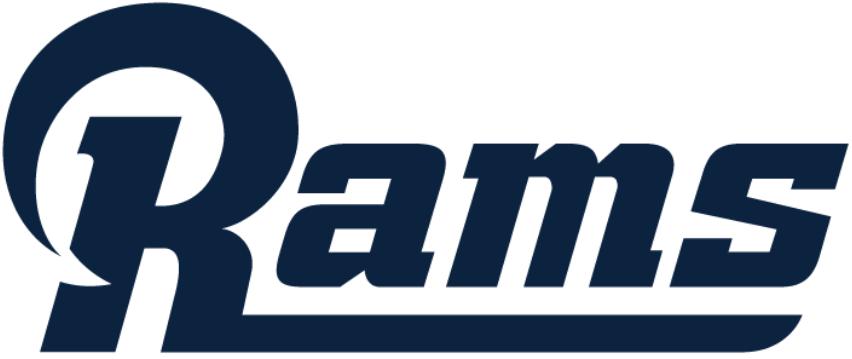 Los Angeles Rams Logo Wordmark Logo (2016-2019) -  SportsLogos.Net