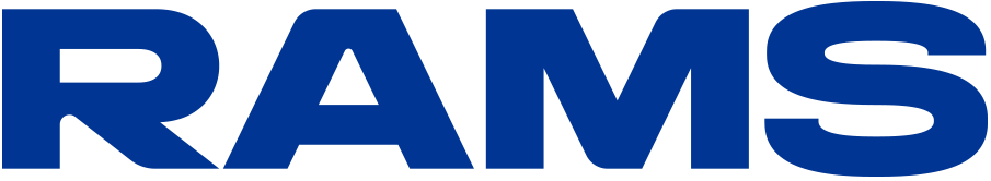 Los Angeles Rams Logo Wordmark Logo (2020-Pres) - RAMS in blue SportsLogos.Net