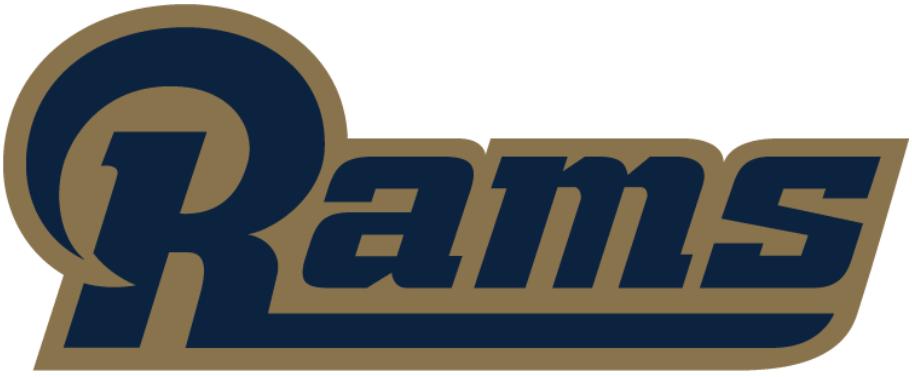 Los Angeles Rams Logo Wordmark Logo (2016) -  SportsLogos.Net