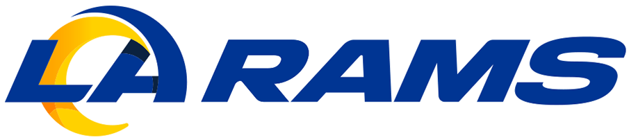 Los Angeles Rams Logo Wordmark Logo (2020-Pres) - LA RAMS in blue and yellow SportsLogos.Net