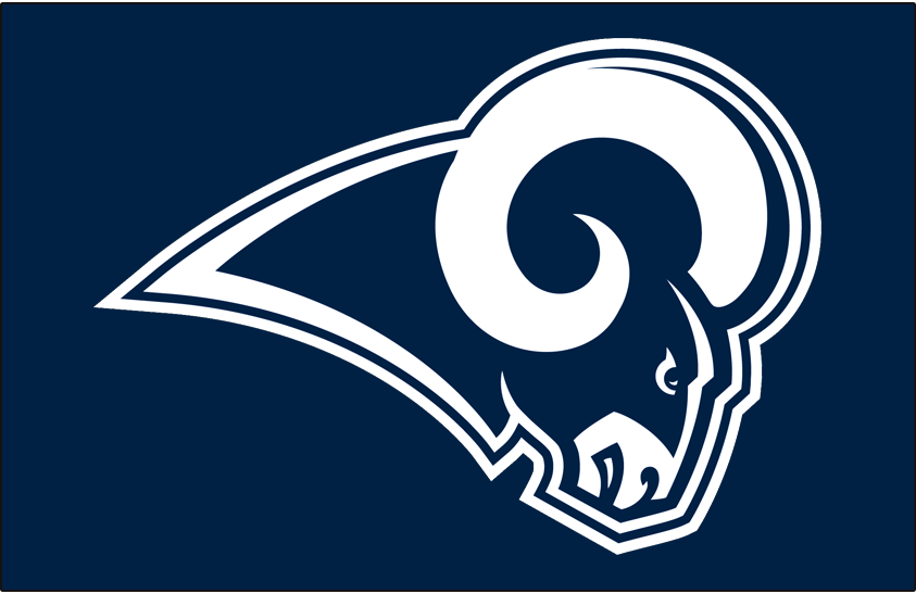 Los Angeles Rams Logo Primary Dark Logo (2017-2019) -  SportsLogos.Net