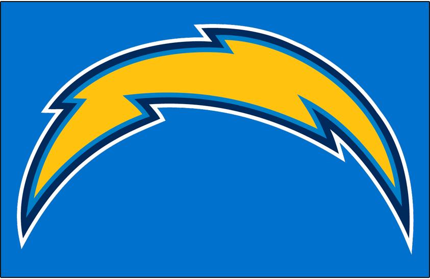 Los Angeles Chargers Logo Primary Dark Logo (2018-2019) - Los Angeles Chargers primary logo on light blue SportsLogos.Net