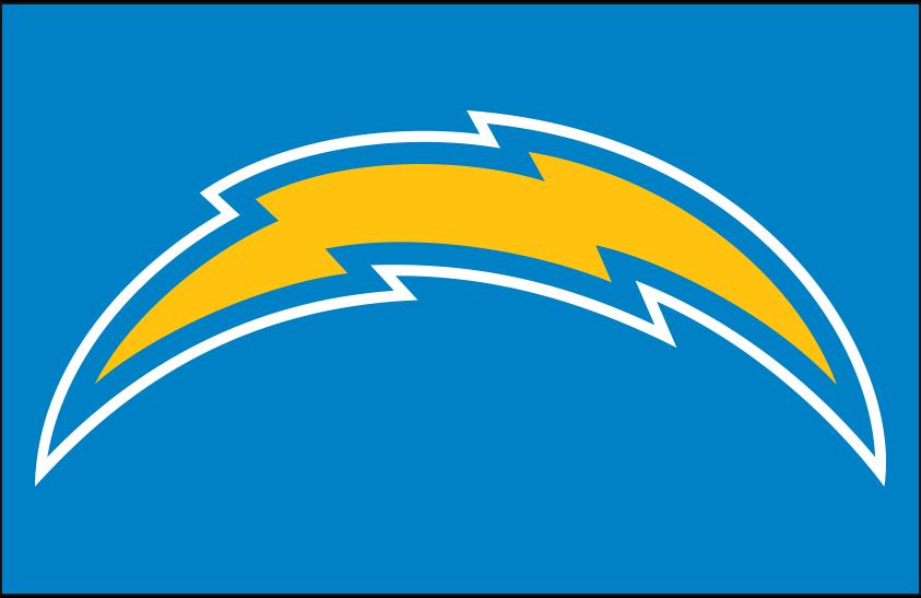 Los Angeles Chargers Logo Primary Dark Logo (2020-Pres) - Los Angeles Chargers primary logo on light blue SportsLogos.Net