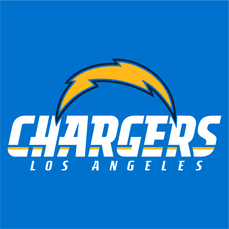 San Diego Chargers Banner: Los Angeles Chargers Alternate On Dark Logo