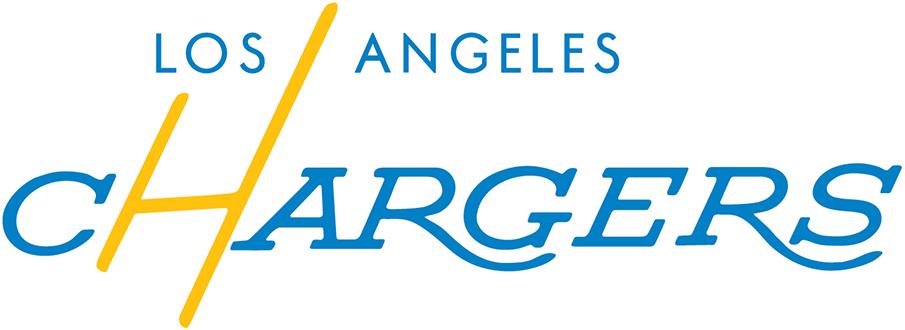 Los Angeles Chargers Logo Wordmark Logo (2018-2019) - Los Angeles Chargers tertiary wordmark logo, inspired by original LA Chargers logos from 1960 SportsLogos.Net