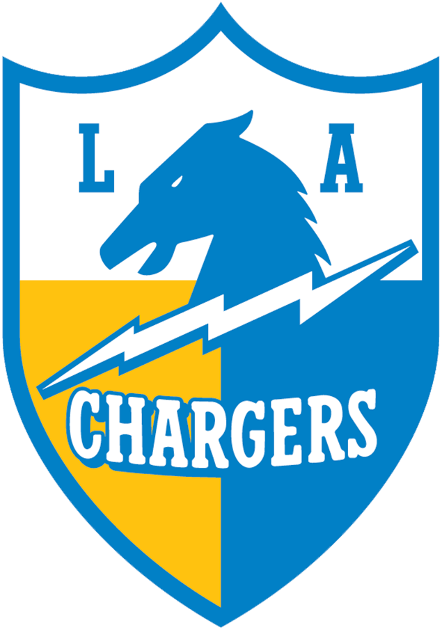 Los Angeles Chargers Logo Alternate Logo (2018-2019) - Los Angeles Chargers secondary shield logo, inspired by original LA Chargers logos from 1960 SportsLogos.Net