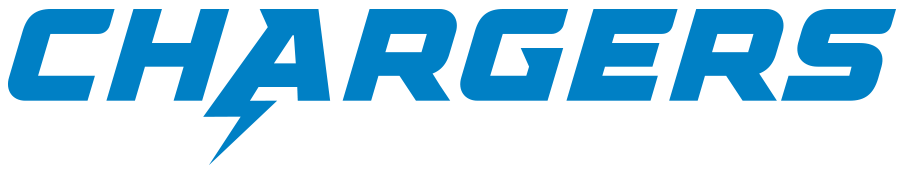 Los Angeles Chargers Logo Wordmark Logo (2020-Pres) - Chargers in blue SportsLogos.Net