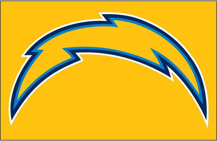 Los Angeles Chargers Logo Primary Dark Logo (2018-2019) - Los Angeles Chargers primary logo on gold SportsLogos.Net
