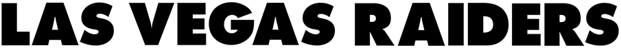Las Vegas Raiders Logo Wordmark Logo (2020-Pres) - LAS VEGAS RAIDERS in black block lettering SportsLogos.Net