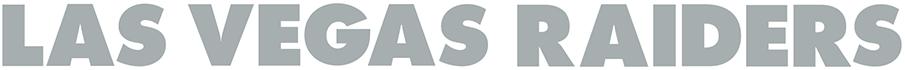 Las Vegas Raiders Logo Wordmark Logo (2020-Pres) - LAS VEGAS RAIDERS in silver block lettering SportsLogos.Net